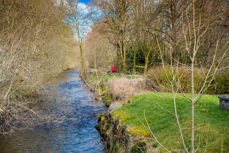 De Rivier Annan in Moffat, Schotland stock foto