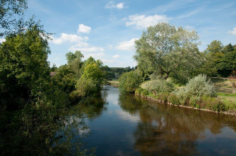 De rivier bij bakewell royalty-vrije stock afbeeldingen
