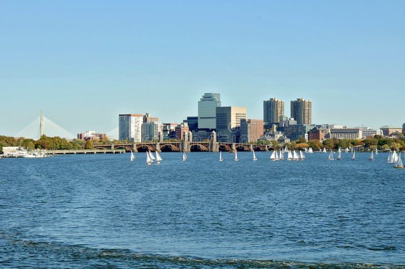 De rivier Boston van Charles stock foto's
