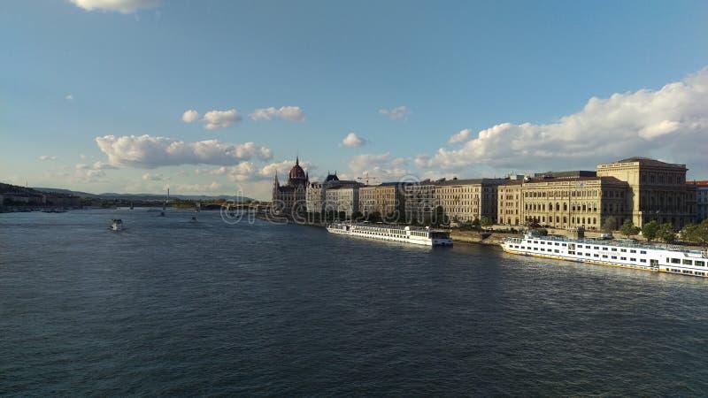 De rivier Donau van Boedapest royalty-vrije stock foto