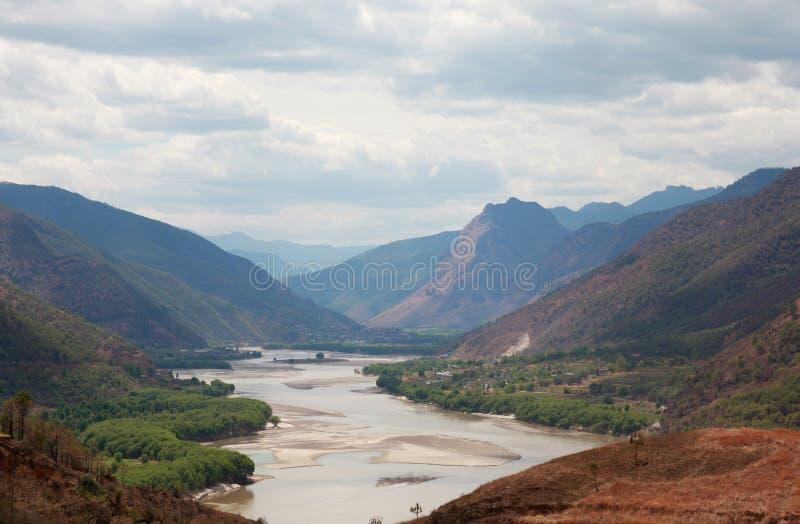 De rivier eerste kromming van Yangzi in China royalty-vrije stock fotografie
