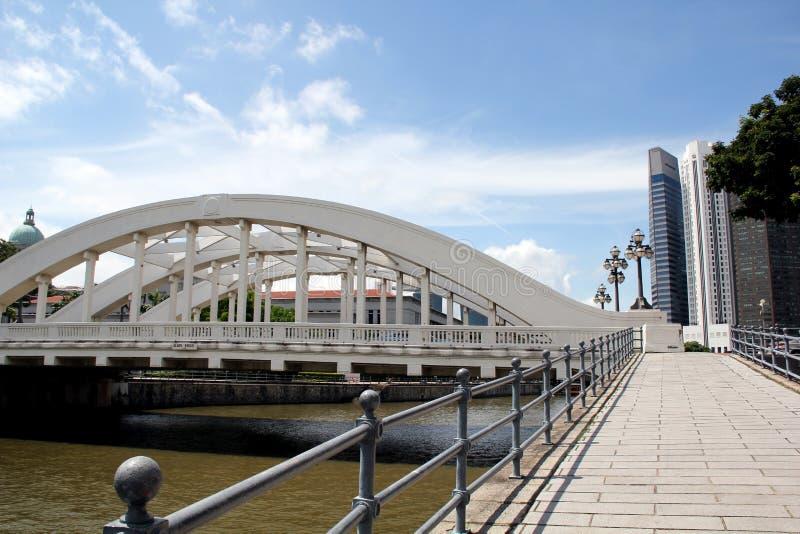 De Rivier en Elgin Bridge Singapore van Singapore royalty-vrije stock afbeeldingen