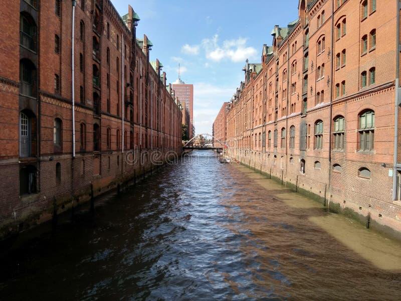 De Rivier in Hamburg royalty-vrije stock afbeelding