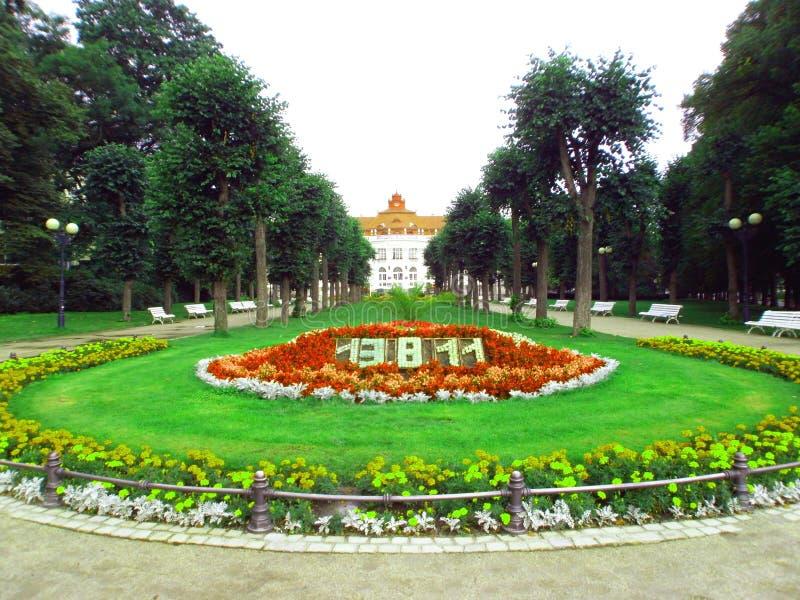 De rivier in Karlovy varieert royalty-vrije stock foto