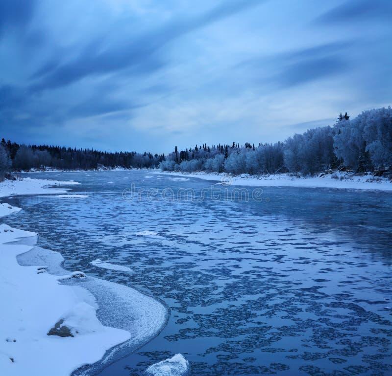 De rivier Kenai royalty-vrije stock foto