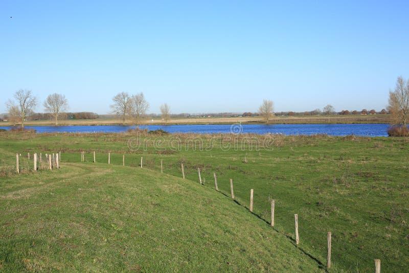 De Rivier Maas in Brabant, Nederland royalty-vrije stock afbeeldingen