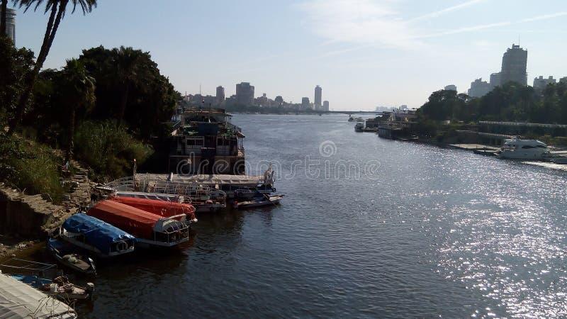 De rivier Nijl in Kaïro royalty-vrije stock fotografie