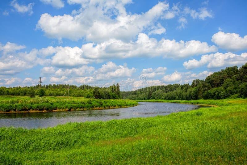 De rivier Tvertsa royalty-vrije stock foto