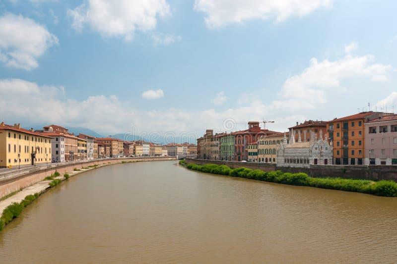 De rivier van Arno royalty-vrije stock foto's