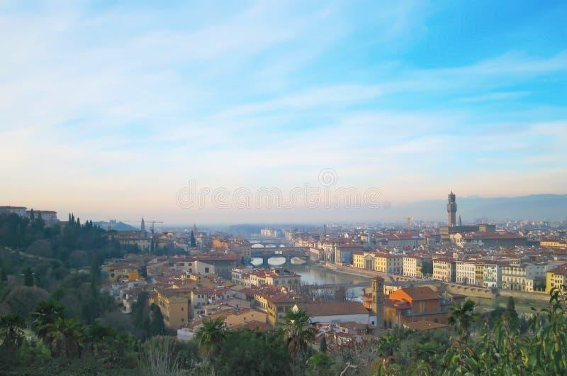 De Rivier van Arno in Florence, Italië royalty-vrije stock afbeeldingen