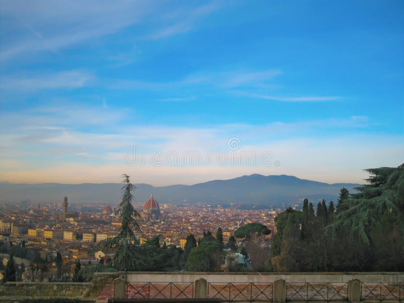 De Rivier van Arno in Florence, Italië stock foto