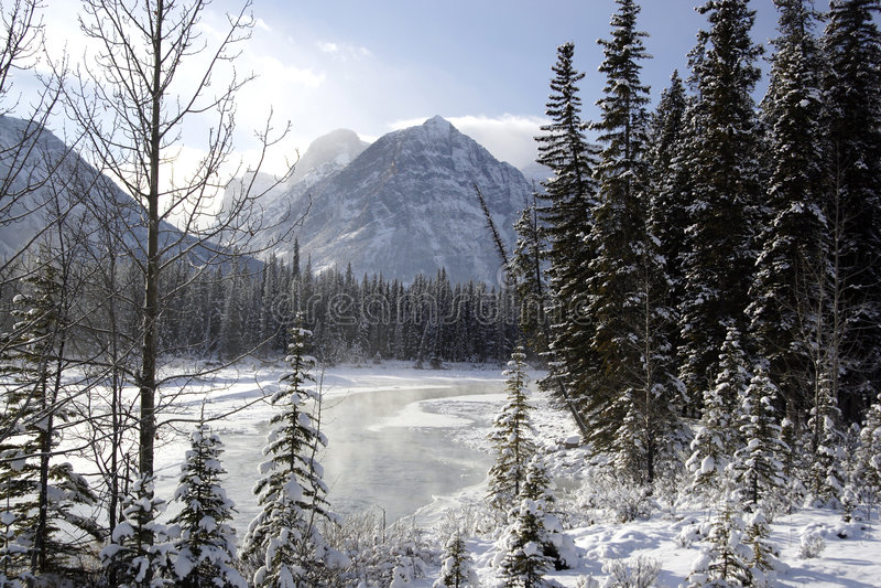 De Rivier van Athabasca royalty-vrije stock afbeelding