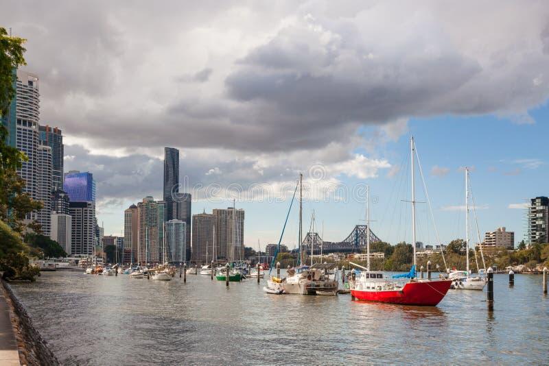 De Rivier van Brisbane royalty-vrije stock foto