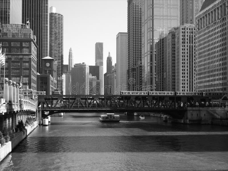 De rivier van Chicago stock foto