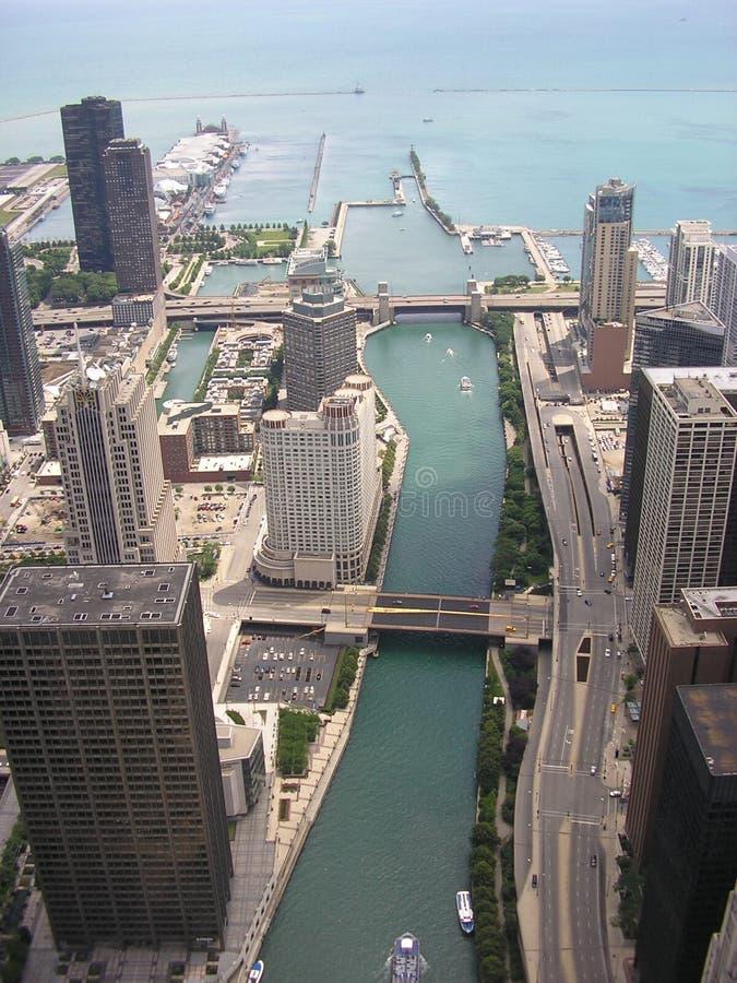 De Rivier van Chicago royalty-vrije stock afbeeldingen