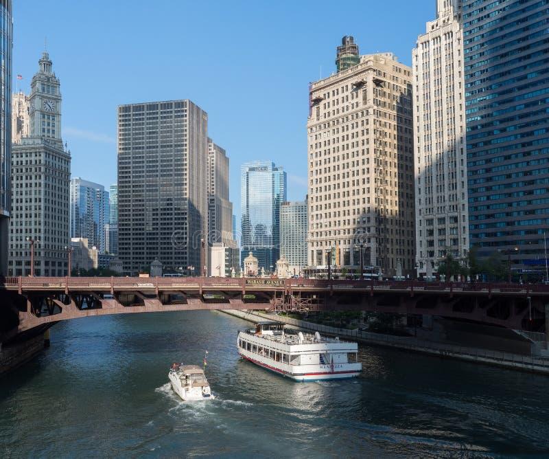 De Rivier van Chicago royalty-vrije stock foto's