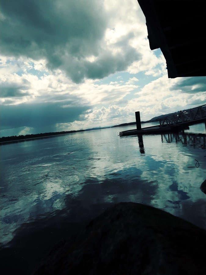 De rivier van Colombia in de staat van Washington stock afbeeldingen