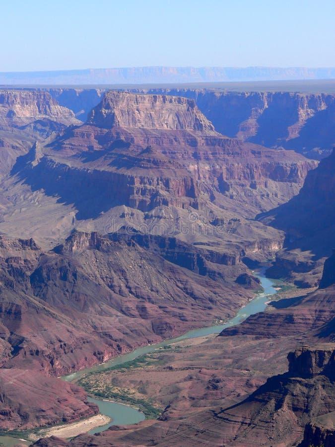 De Rivier van Colorado in Grote Canion stock afbeeldingen