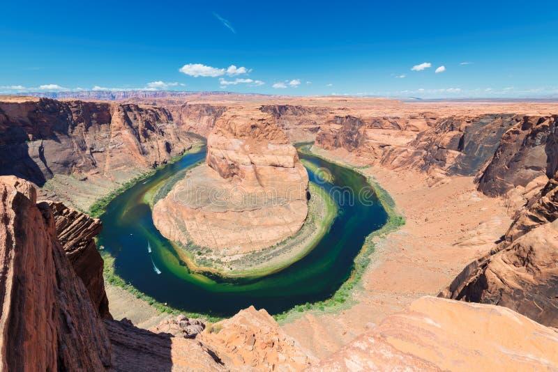 De Rivier van Colorado in Hoefijzerkromming, Arizona royalty-vrije stock afbeelding