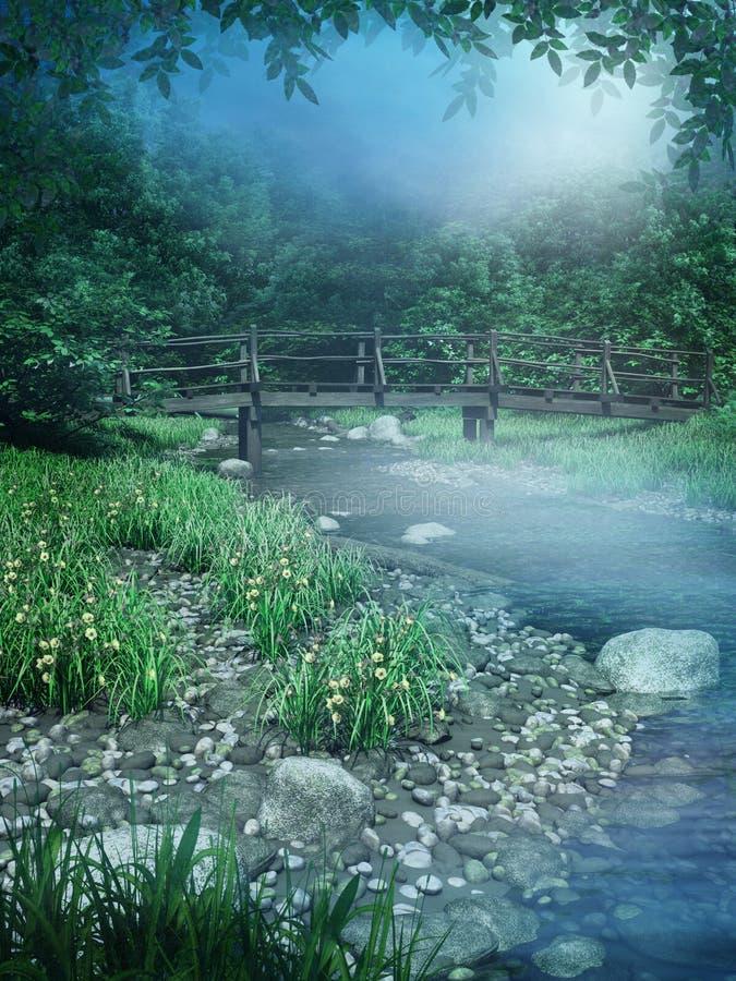 De rivier van de fantasie vector illustratie