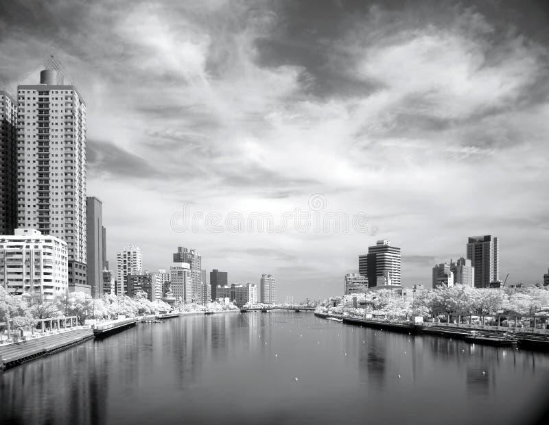 De rivier van de Liefde in Stad Kaohsiung in Taiwan stock afbeelding