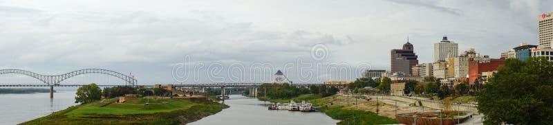 De rivier van de Mississippi in Memphis royalty-vrije stock fotografie