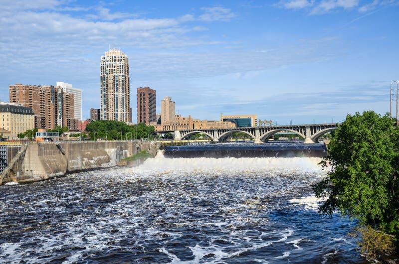 De Rivier van de Mississippi, Minnesota stock afbeeldingen