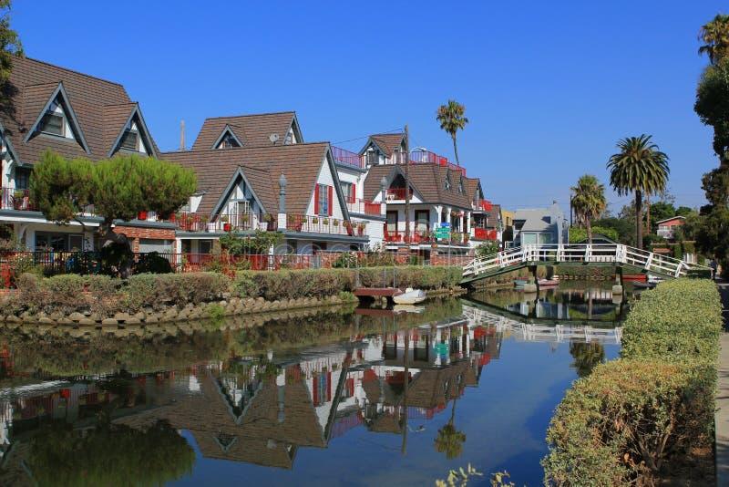 De rivier van de opdrachtkreek in Santa Barbara stock afbeeldingen