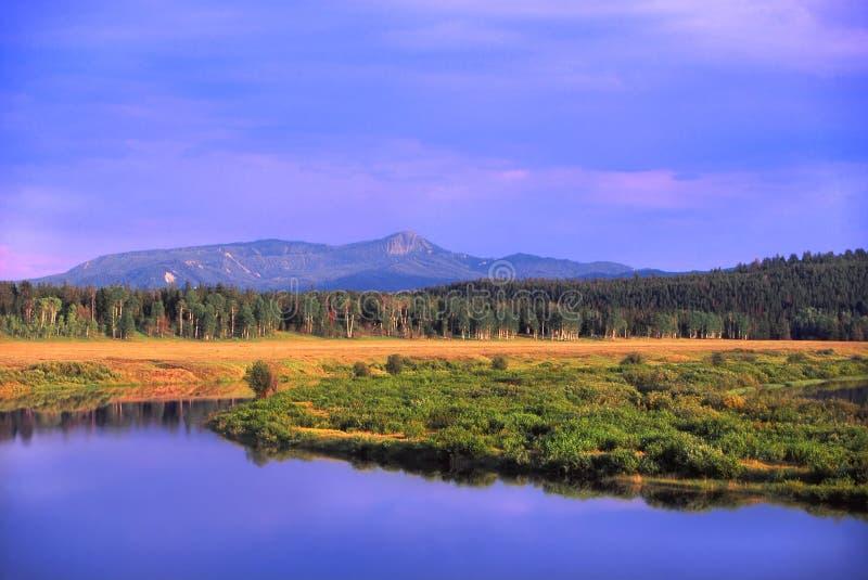 De Rivier van de slang - Wyoming royalty-vrije stock foto