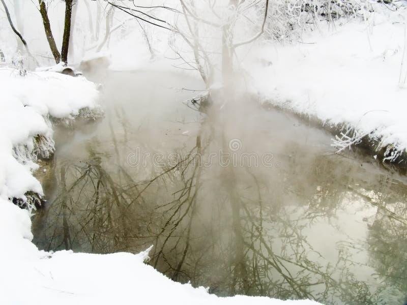 De rivier van de winter royalty-vrije stock afbeeldingen