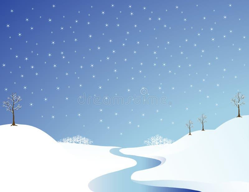 De Rivier van de winter vector illustratie