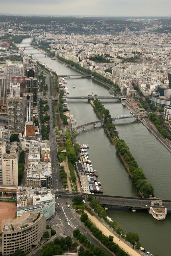 De rivier van de zegen stock fotografie