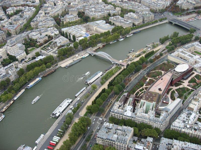 De Rivier van de zegen - Parijs stock afbeelding
