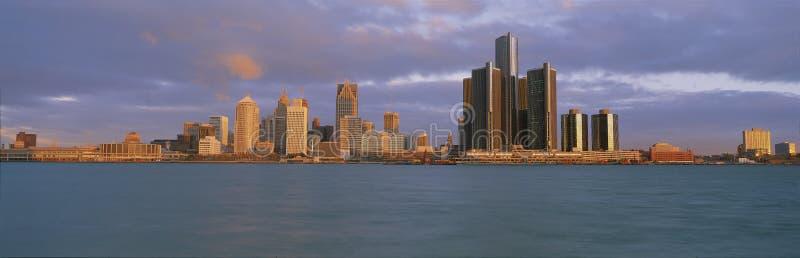 De Rivier van Detroit stock foto's
