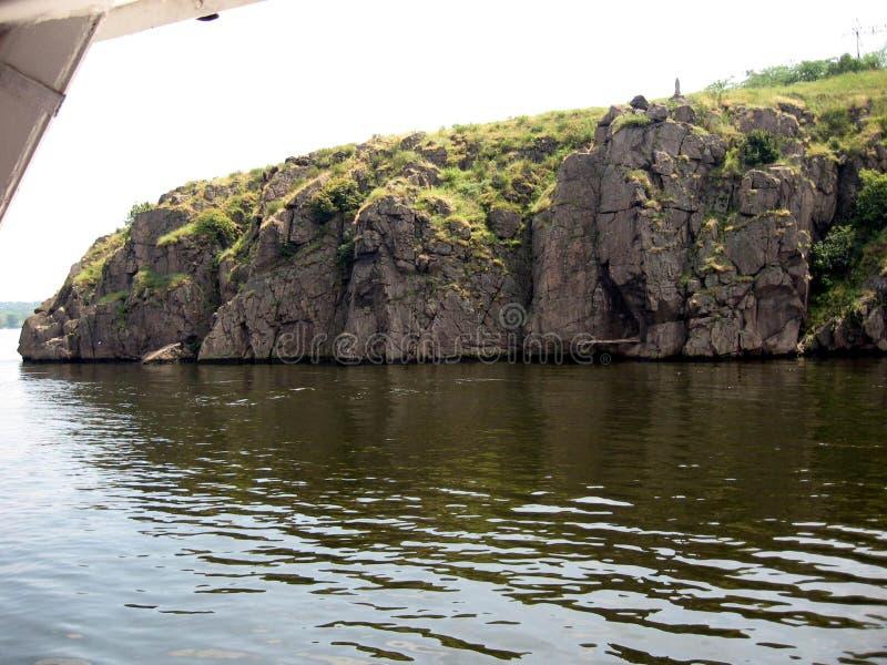 De rivier van Dniepr ukraine stock afbeeldingen