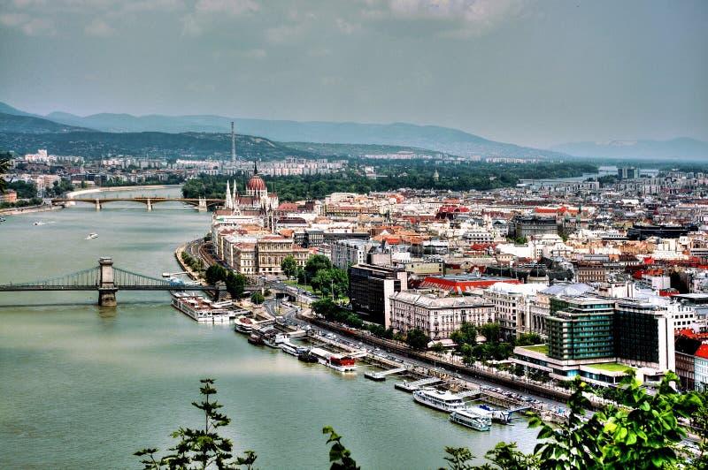 De Rivier van Donau in Boedapest stock fotografie