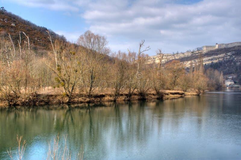 De rivier van Doubs royalty-vrije stock fotografie