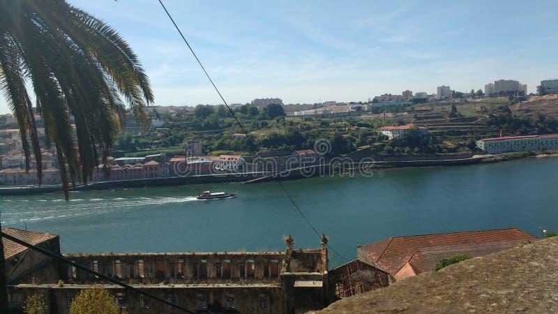 De rivier van Douro in Porto royalty-vrije stock afbeelding