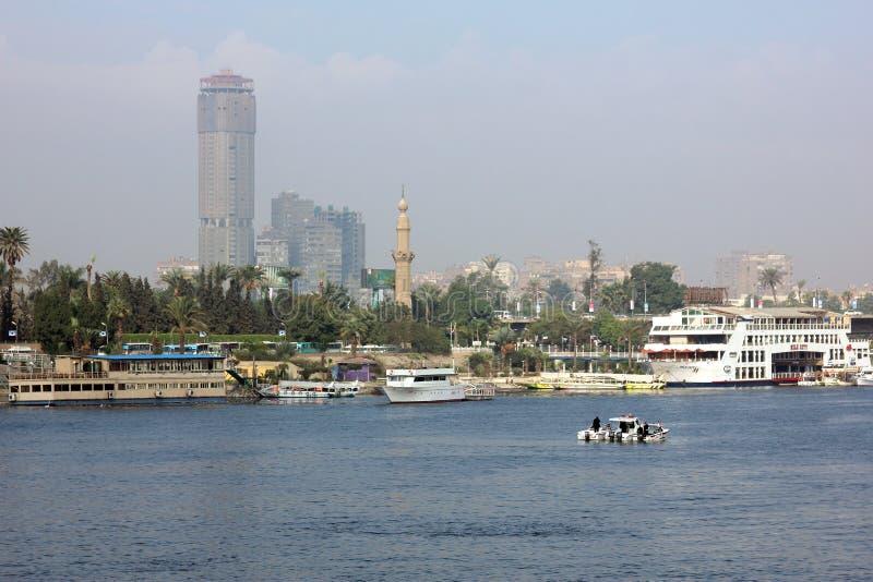 De rivier van Egypte Kaïro Nijl stock fotografie