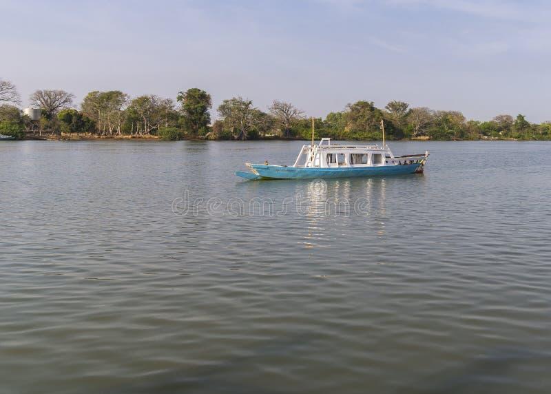 De rivier van Gambia royalty-vrije stock foto's