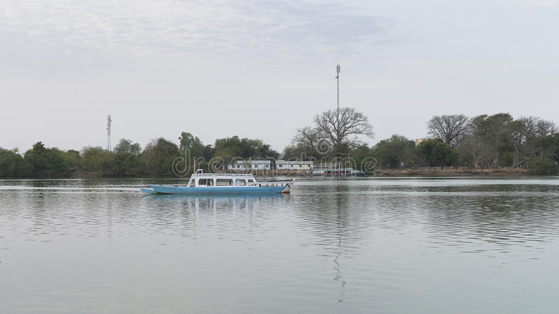 De rivier van Gambia royalty-vrije stock foto