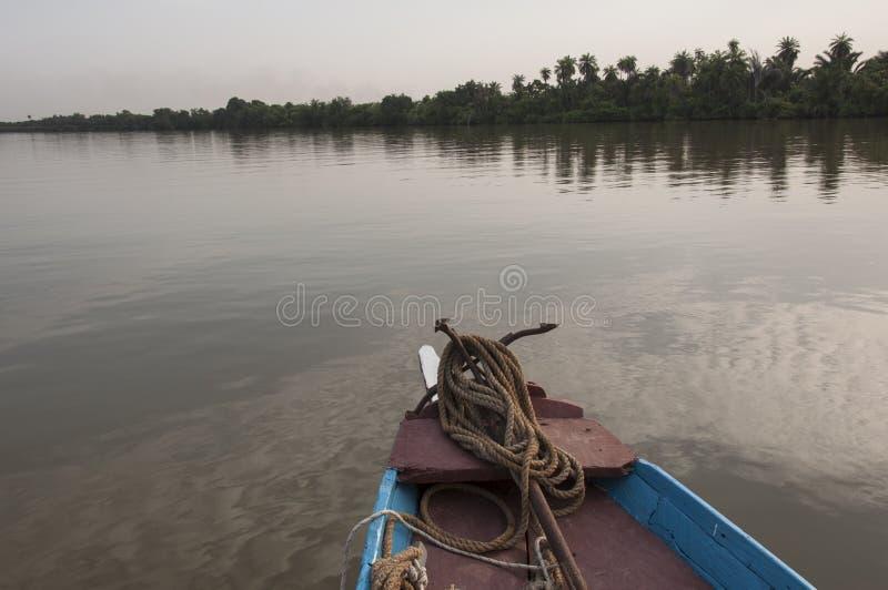 De rivier van Gambia stock afbeeldingen