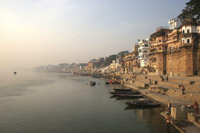 De rivier van Ganga stock afbeeldingen