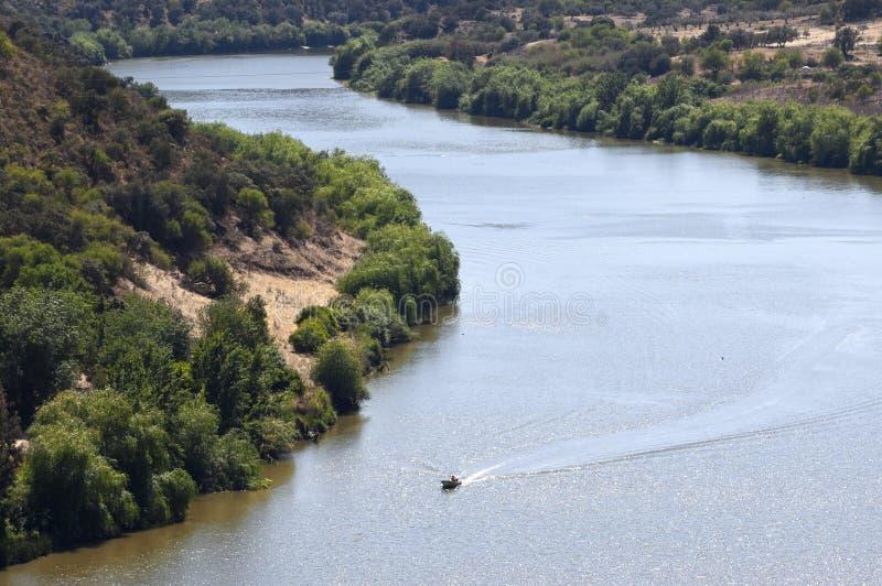 De rivier van Guadiana stock afbeelding