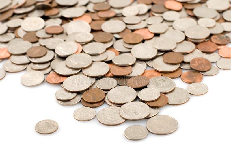 De rivier van het muntstuk royalty-vrije stock foto's