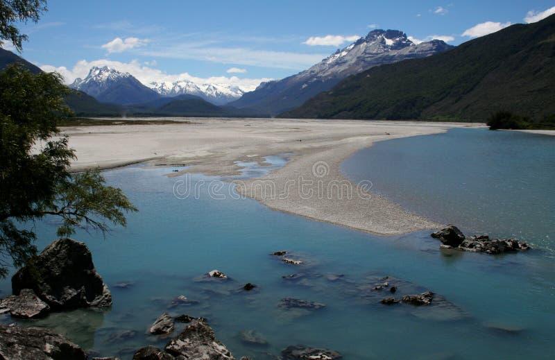 De rivier van het pijltje, Glenorchy, Nieuw Zeeland royalty-vrije stock foto's