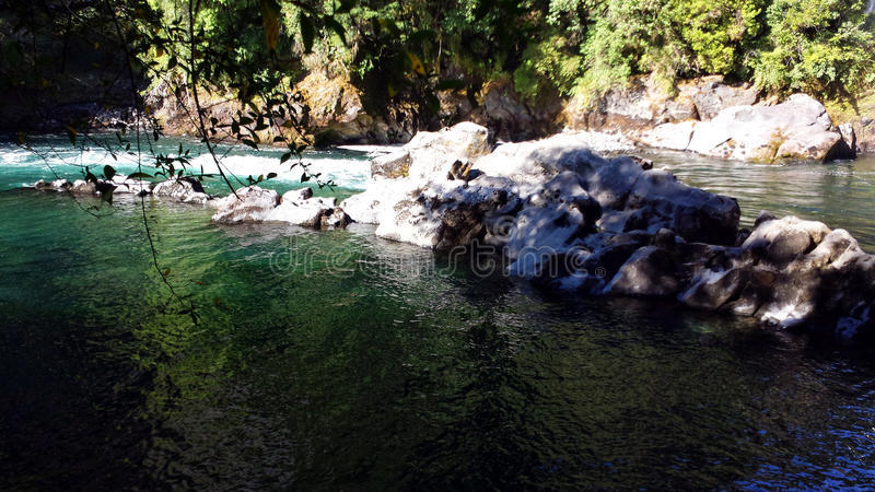 De Rivier van Huilohuilo - Chili royalty-vrije stock foto's
