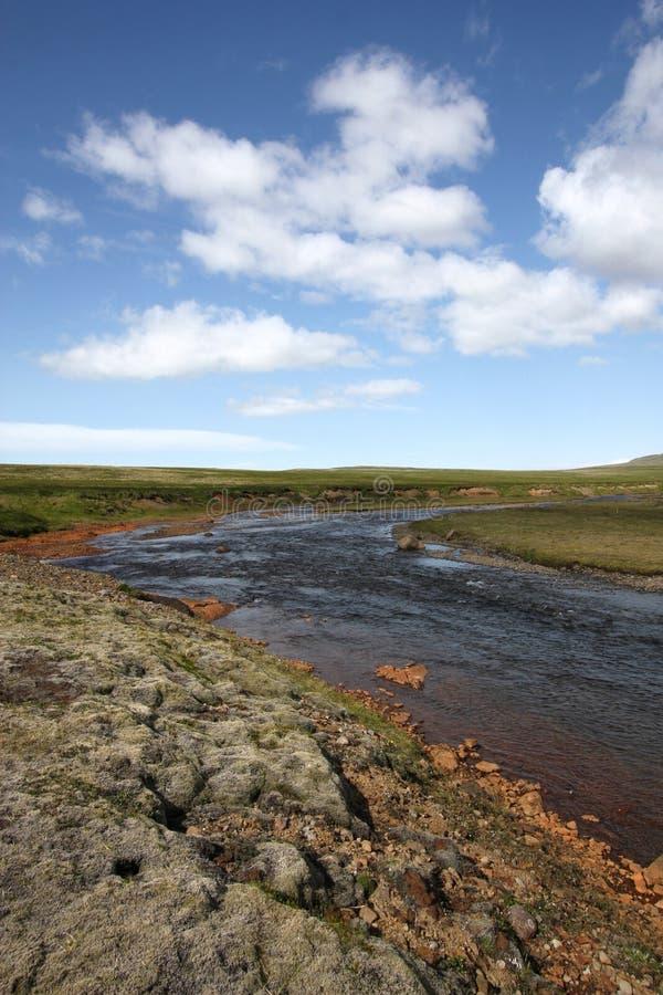 De rivier van IJsland stock foto's
