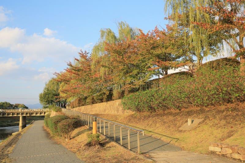 De Rivier van Kyoto, Japan - Kamo-townscape Ook genoemd geworden kamo-Gawa royalty-vrije stock fotografie