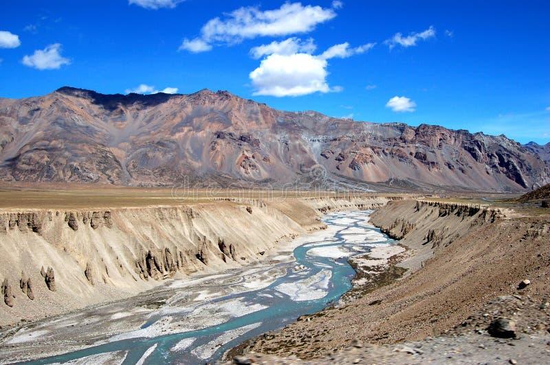 De rivier van Ladakh stock afbeeldingen